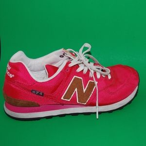 New Balance 574 Pink Athletic Shoes (Size 10)